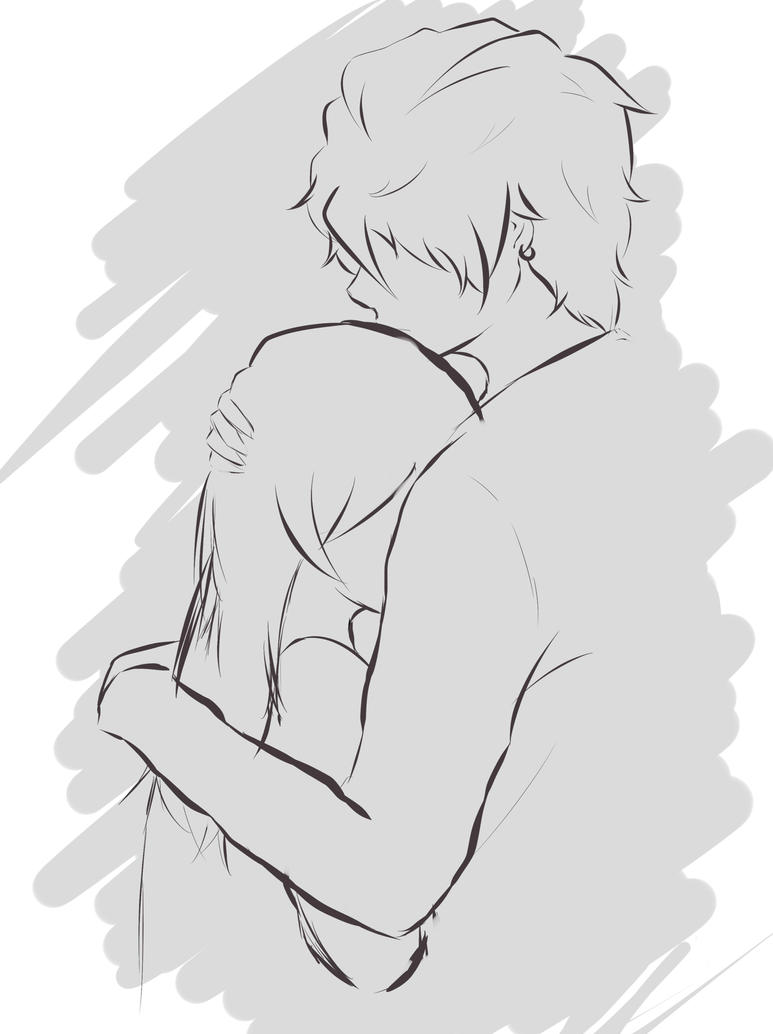 To acquire Love Anime hug drawing picture trends