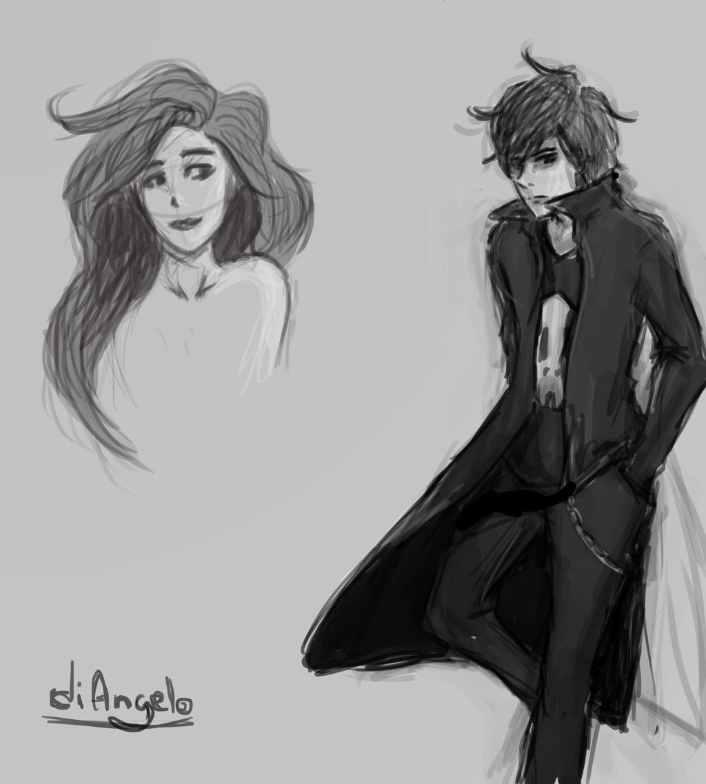 bianca and nico di angelo by kaahtak on deviantart