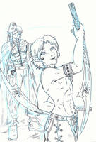 16 year old sketch drizzt by RollerBoyjeremy