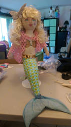 hand made mermaid doll
