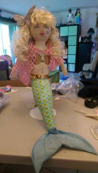 hand made mermaid doll