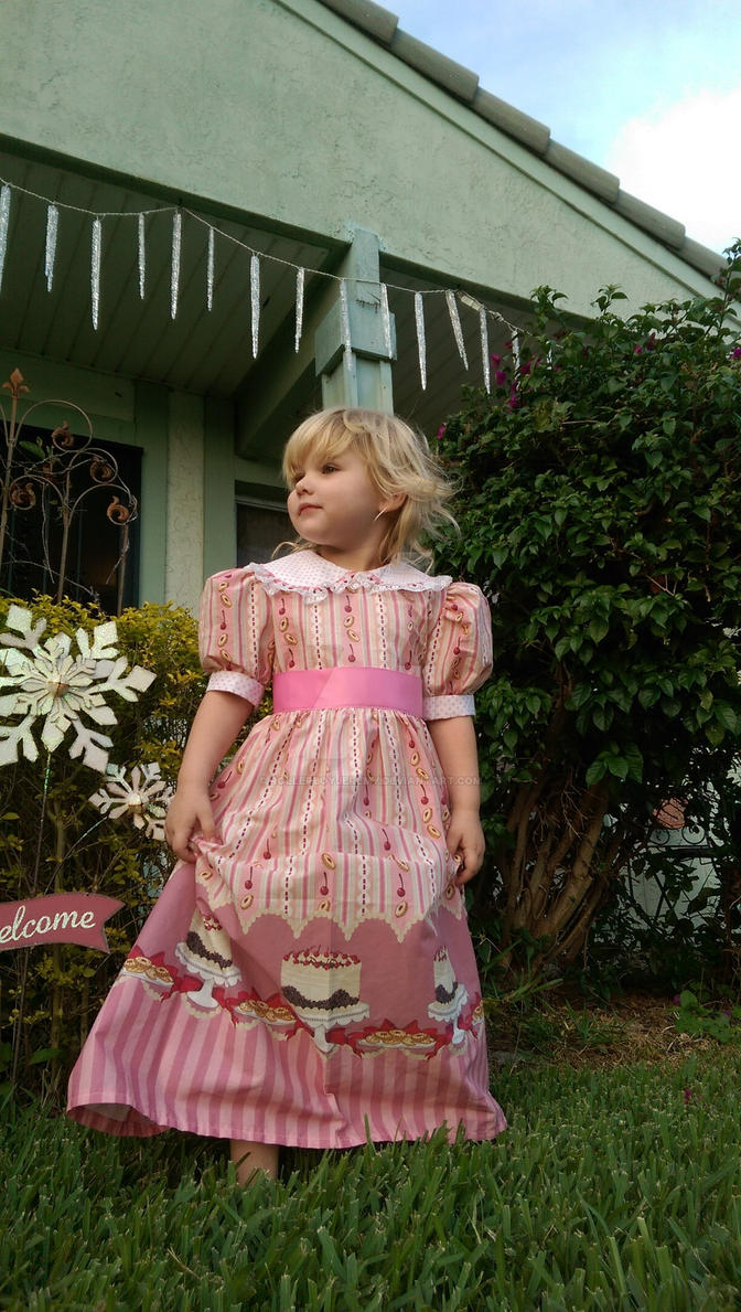 Handmade holiday dress