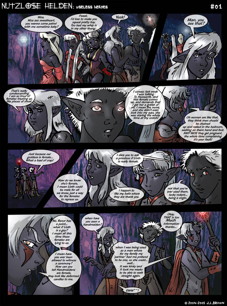 Drow males are people too, LOL