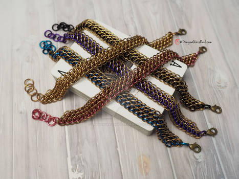 Luxurious Brass Chainmaille Bracelet