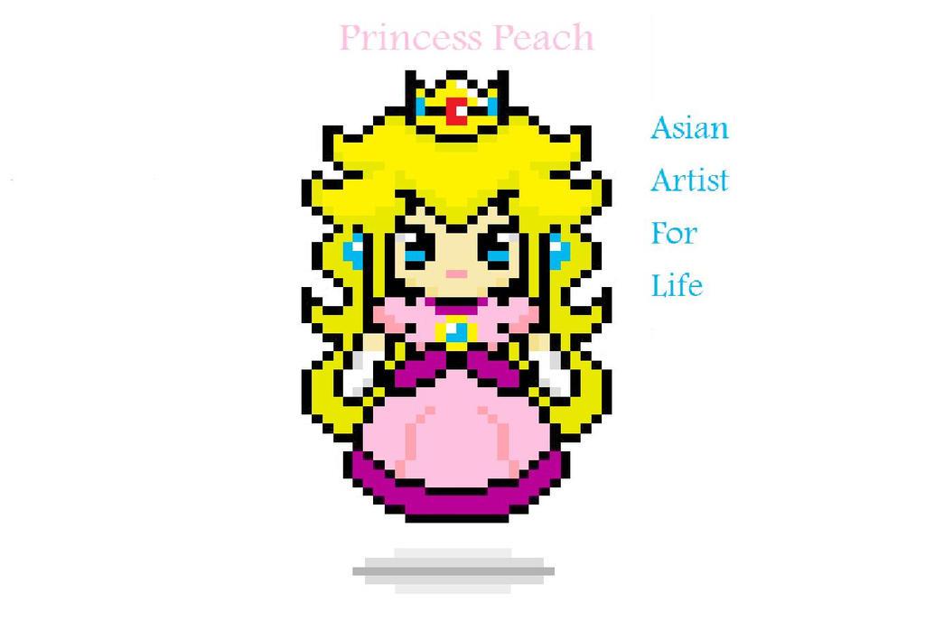 Princess Peach Pixel Art Peach