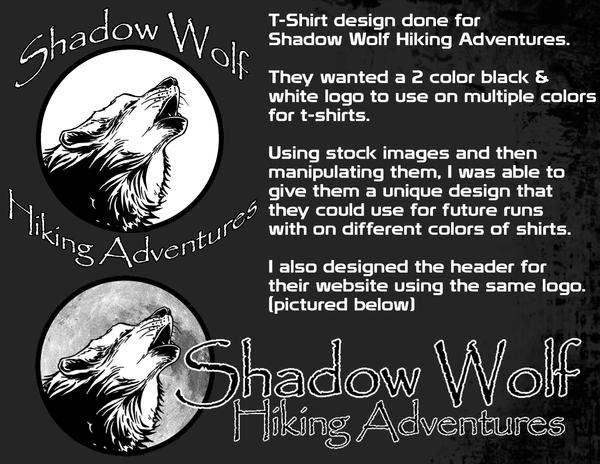 Shadow Wolf T-Shirt and Web Header by Jake-Townsend