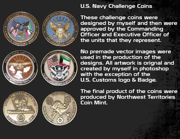 US Navy Challenge Coins by Jake-Townsend