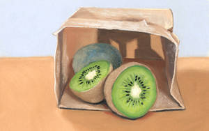 kiwifruit in a bag by classina