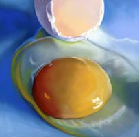 Broken Egg pastel