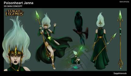 Poisonheart Janna - Skin concept