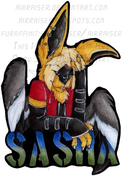 Sasha Bust Badge 08 by AirRaiser