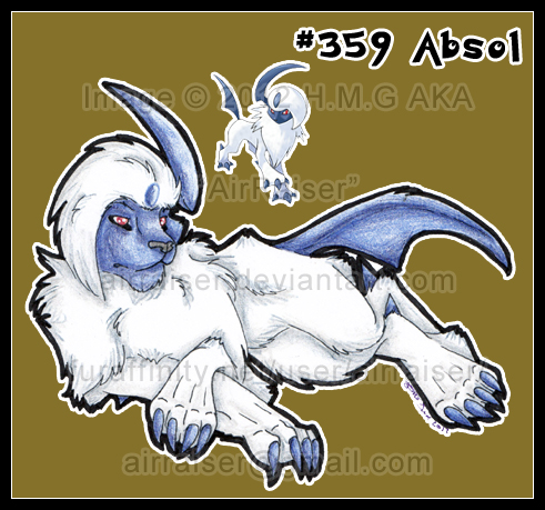 Pokemon: Absol 2012 by AirRaiser
