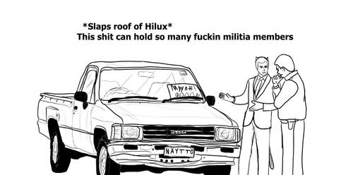 Slaps Roof Of Hilux