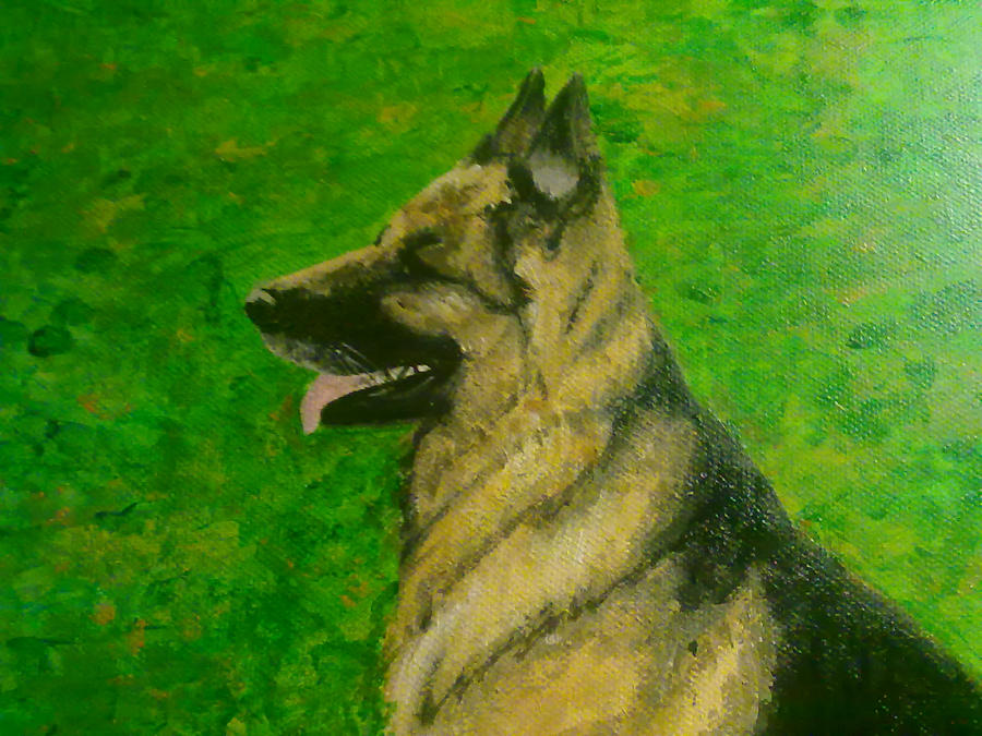 German shepherd painting face by limbothelost on deviantart