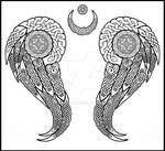 celtic wings tattoo