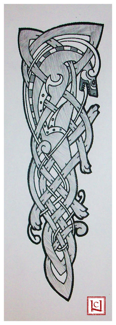 celtic wolf tattoo quickie by one rook on deviantart. Black Bedroom Furniture Sets. Home Design Ideas