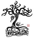 Yggdrasil Mammen-style tattoo commission