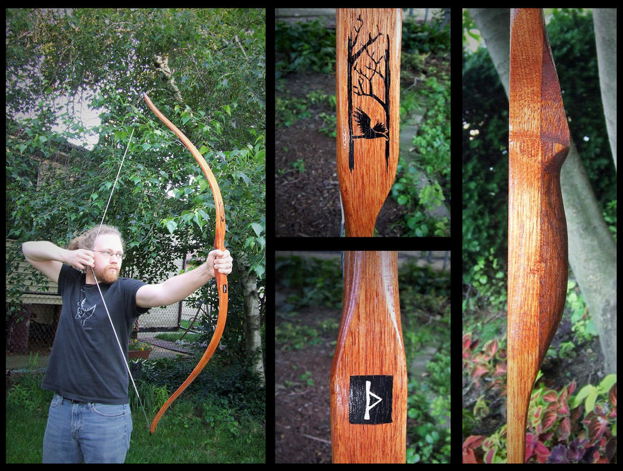 Thurisaz Hickory flatbow. No, seriously this time. by one-rook