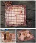 Rose-colored Hnefatafl 'Viking Chess' set