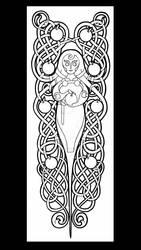 Idunn shin tattoo