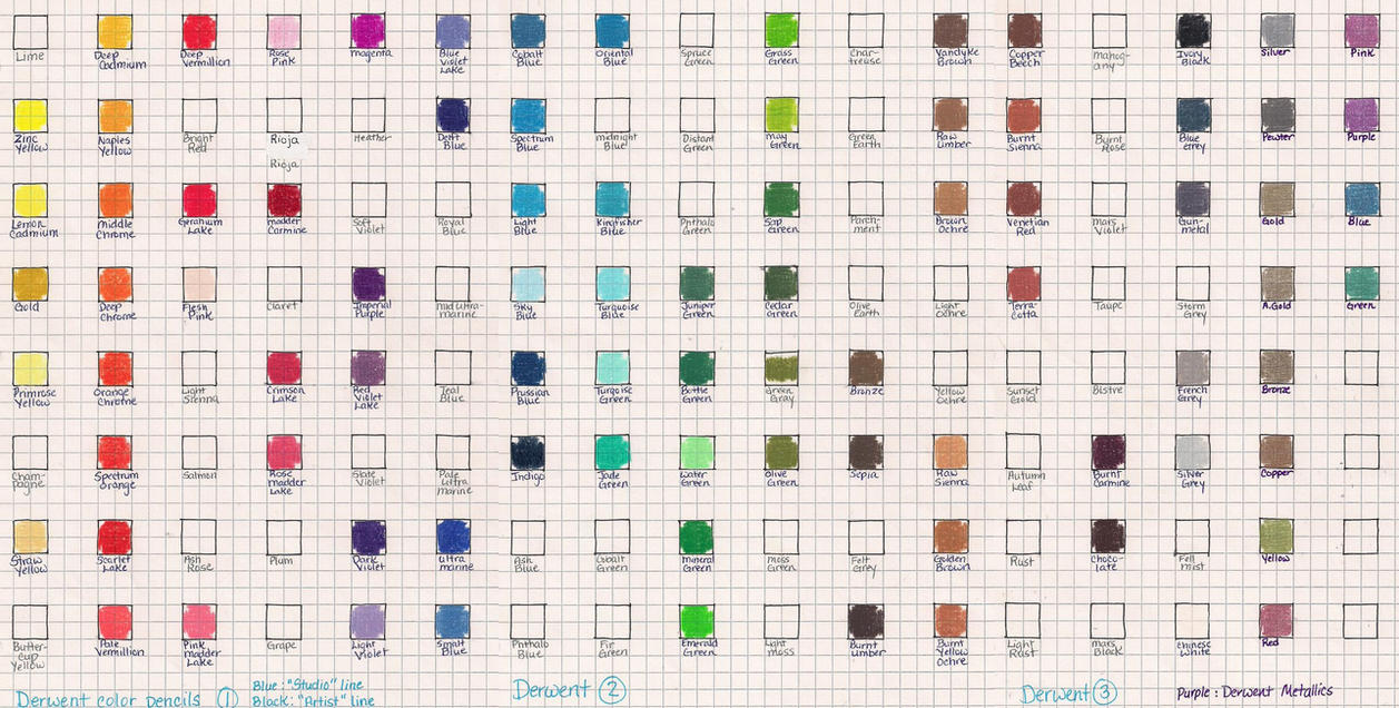Color charts for color pencils by josephine9606 on deviantart josephine9606 113 14 derwent studio color chart by josephine9606 nvjuhfo Image collections