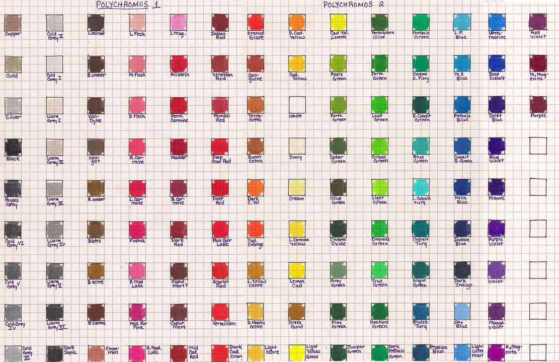 Prismacolor 132 premier colored pencil chart by transientart on faber castell polychromos color chart by josephine9606 nvjuhfo Image collections