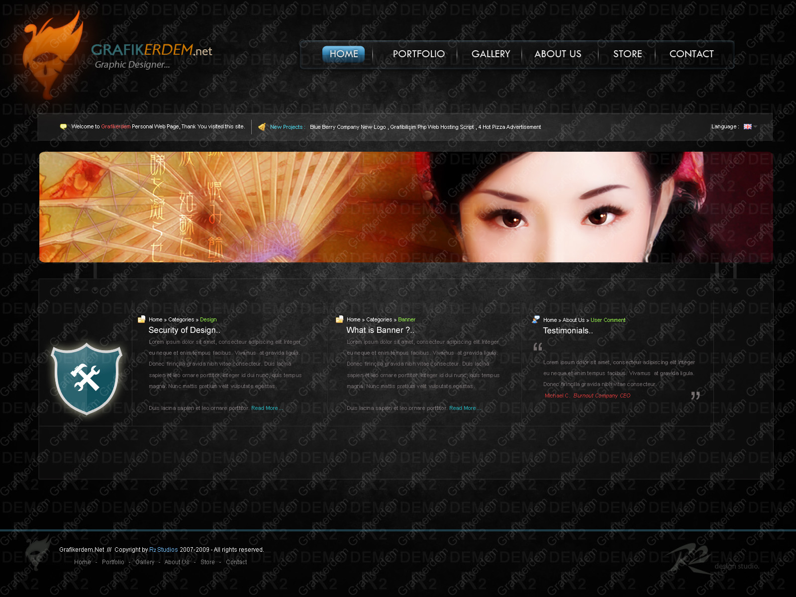 Personal Web Site Template by Grafikerdem