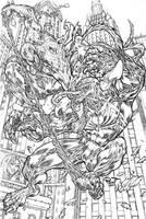 spidey vs venom: amazing fight by pant