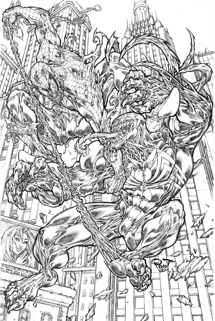 spiderman vs venom coloring pages - spidey vs venom amazing fight by pant on deviantart