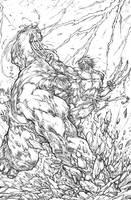 Hulk vs Wolverine: Epic battle by pant