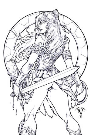 The warrior princess by pant