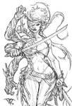 Cyberforce's female striker