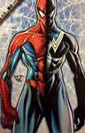 Amazing spiderman traditional copic artwork