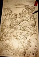Hulk Smash a Savage Woverine by pant