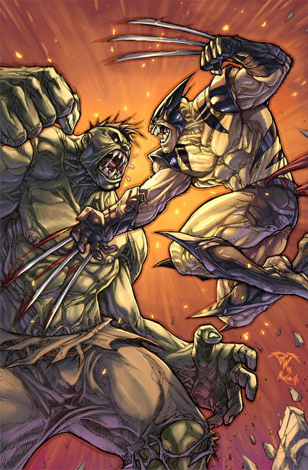 Wolvie vs Hulk savage battle by pant