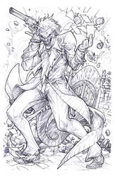 Gotham Arkham Madness by pant