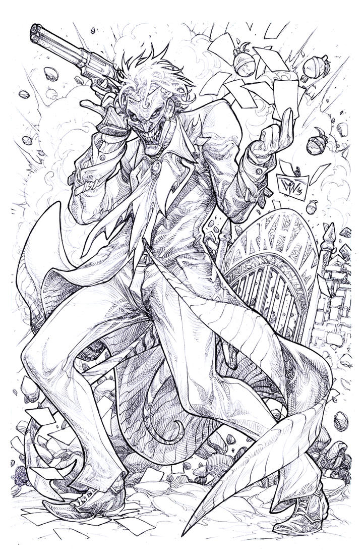 the joker coloring book pages - photo#38