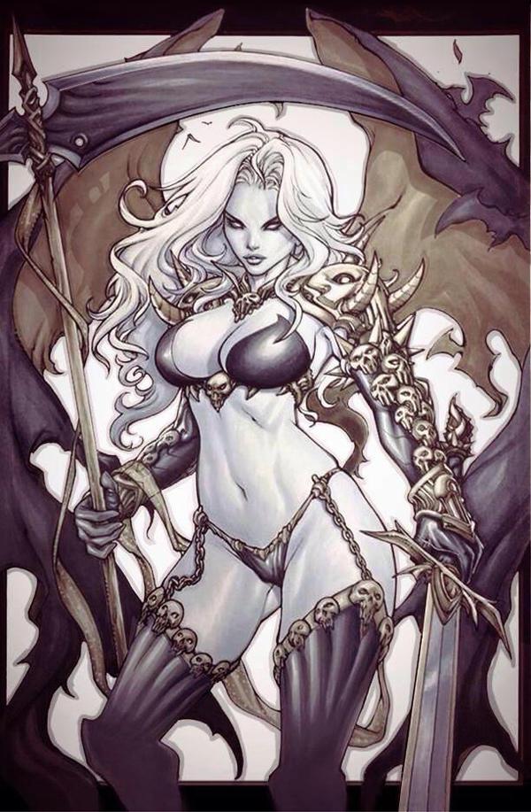 Lady Death traditional artwork