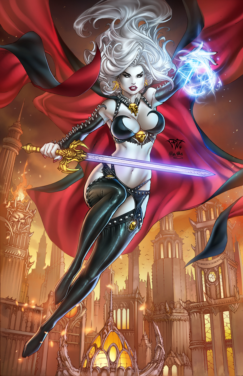 Lady death kickstarter cover by pant