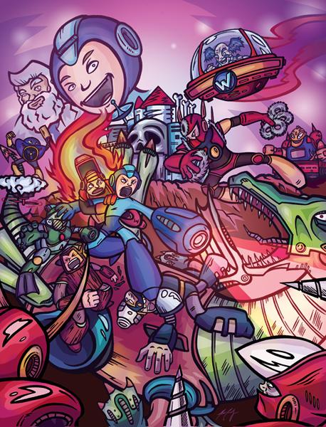 Mega Man 2 by artzrevolution