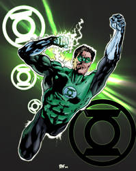 Green lantern colored sketch by rafgraphicart