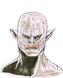 Azog the white Orc by rafgraphicart