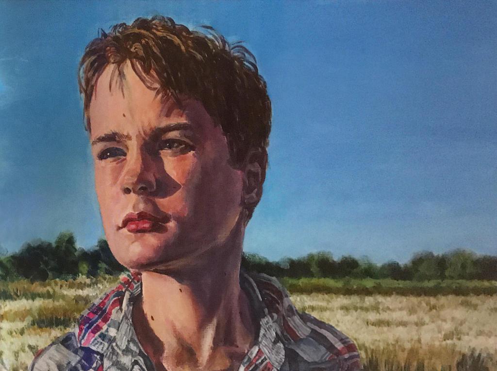 David in bog cotton field by littlestudio