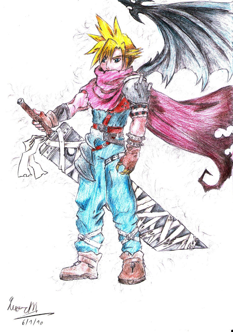 Cloud Strife KH2 by Lm136