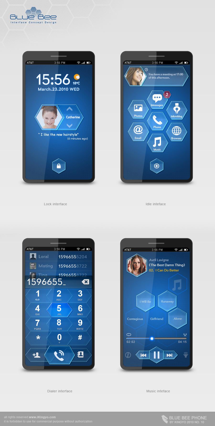Mobile ID -- Blue Bee 1 by kingyoART