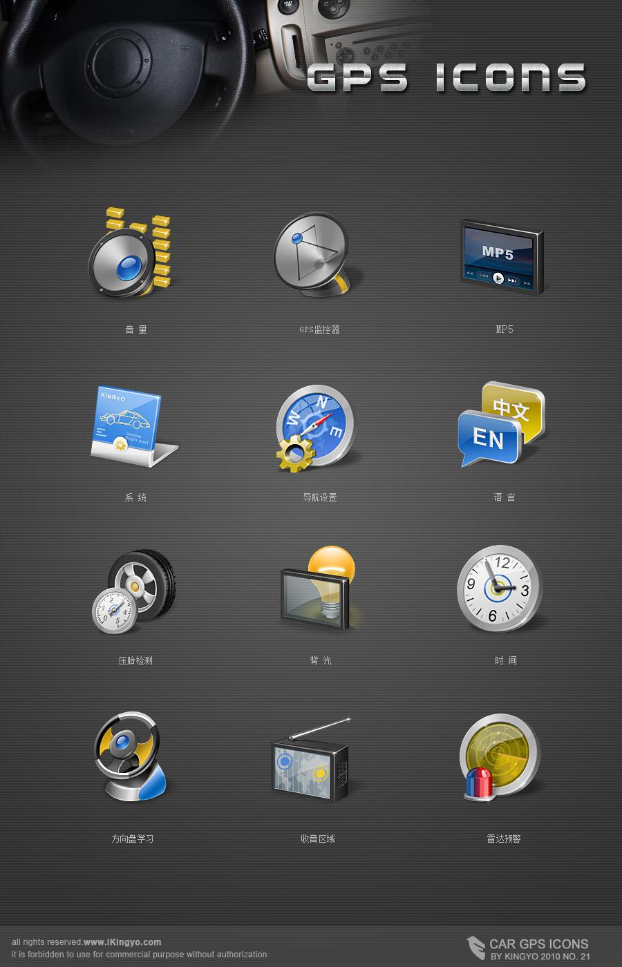 GPS icons by kingyoART