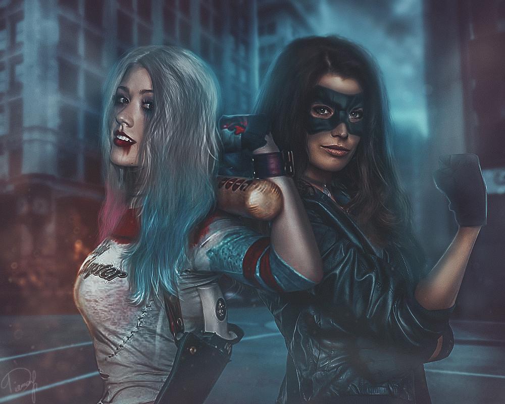 Black Canary and Harley Quinn by EnterDiamond