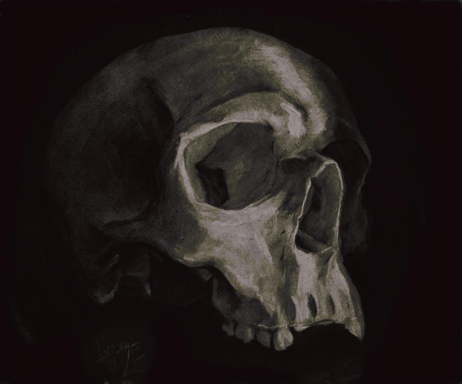 Skull Painting By Freddylupus Rf Hg