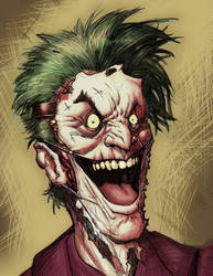 joker face digipaints... by freddylupus