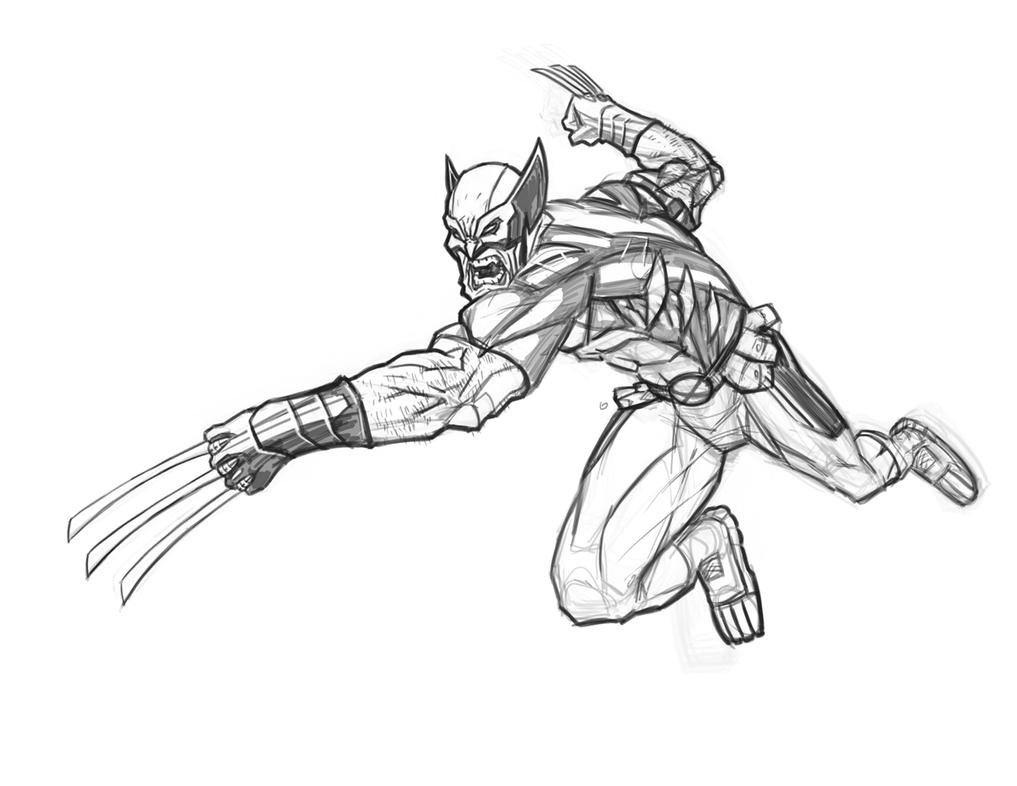 Wolverine Sketch By Freddylupus On DeviantArt